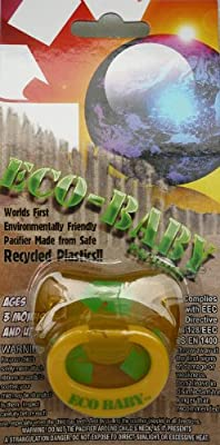 Billy Bob Eco Baby Pacifier - Recycle Yellow