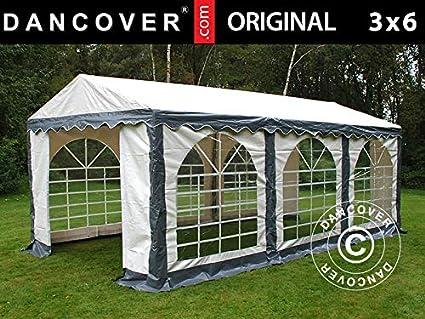 Dancover Carpa para Fiestas Carpa Eventos Original 3x6m PVC, Gris ...