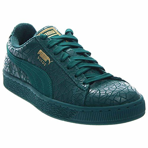 Puma Suede Crackle Men US 12 Green Sneakers Puma Number