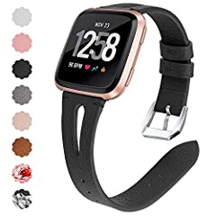 Specifications: 1) Materials: Made of full grain cow leather material, safe, non-toxic, sanitary and durable.  2) Compatibility: This Compatible with Versa Bands Leather is specially designed and made for your Versa Smartwatch/Versa Lite Edi...