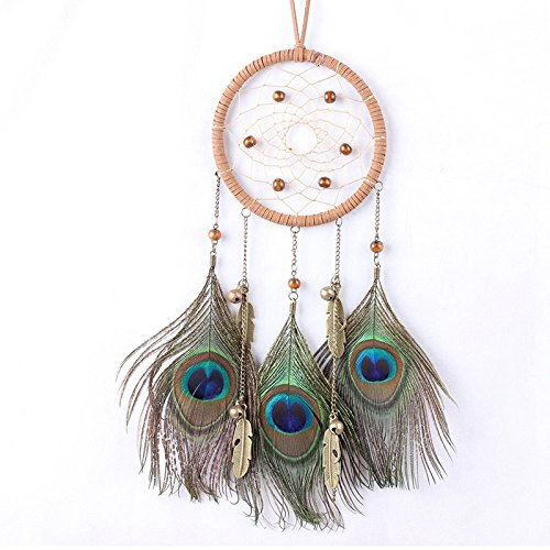 zehui With Peacock Feathers Dream Catcher Circular Net The bedroom ornaments (The ancient bronze) (13 Nights Of Halloween Movie List)
