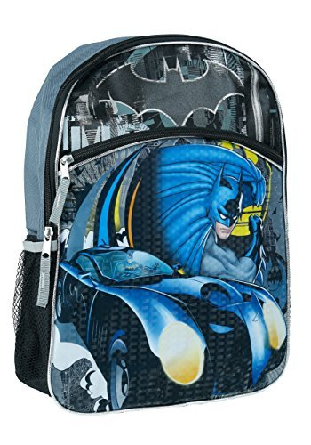 DC Comics Boys' Batman Full Size Backpack, Black, One Size (Dc Backpacks For Boys)