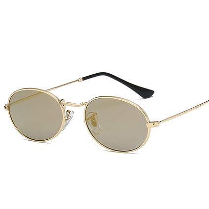 Amazon.com : YHEGV Small Oval Sunglasses Women Vintage Black ...