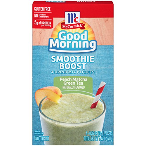McCormick Good Morning Smoothie Boost Smoothie Mix Packets, Peach Matcha Green Tea, 1.44 Ounce by McCormick