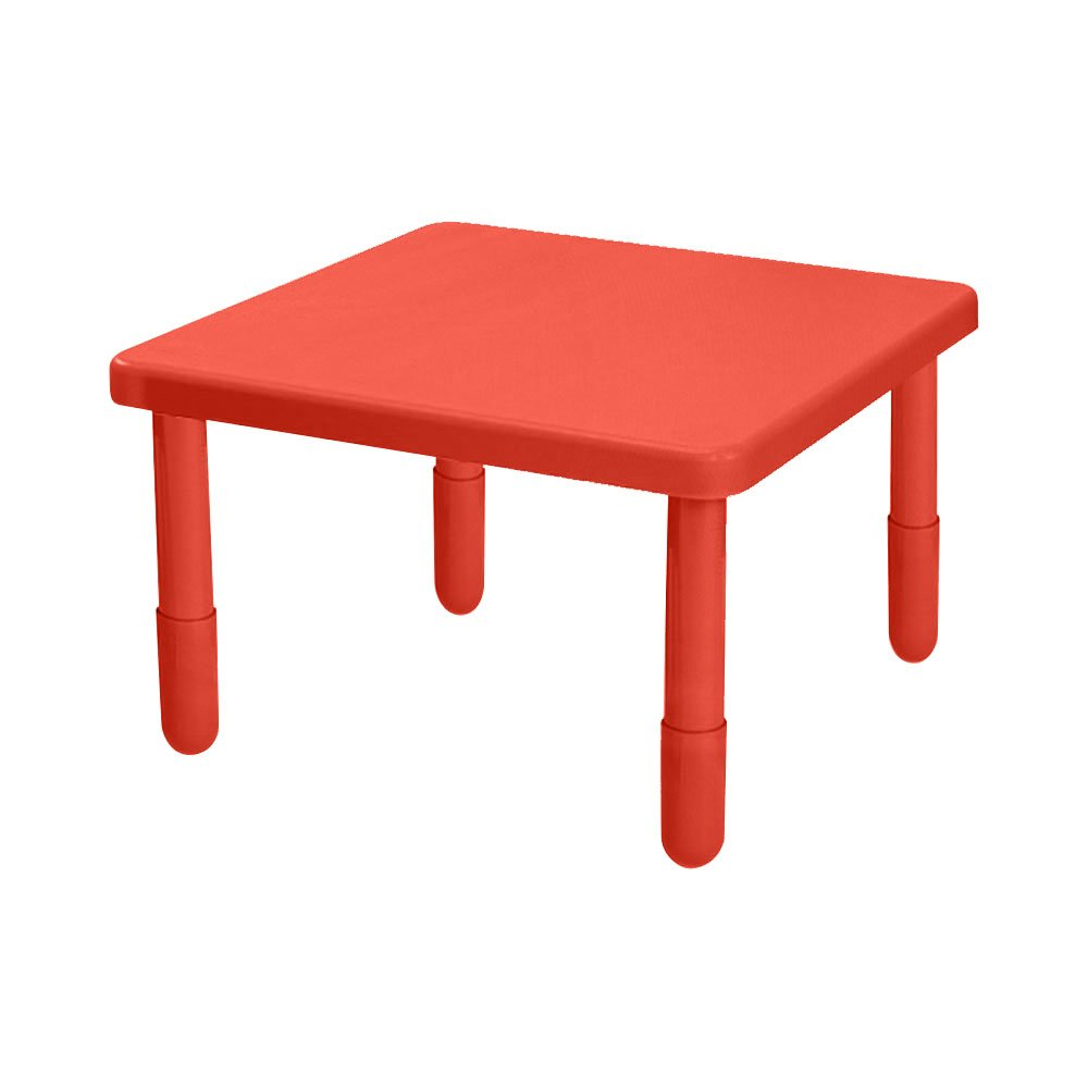 Value Kids Preschool Classroom ActivityStack Square Table 28''x28''x22 Candy Apple Red