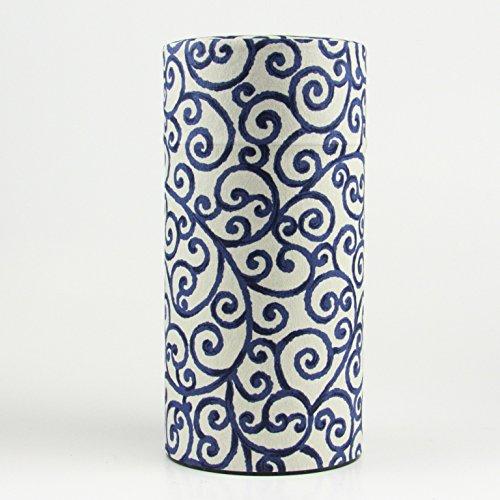 Ryu Mei Aizome Blue Japanese Tea Tin [Type 1] by Ryu Mei