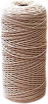 Cuerda de algodón natural 1 mm Bohemia Macrame artesanía de ...