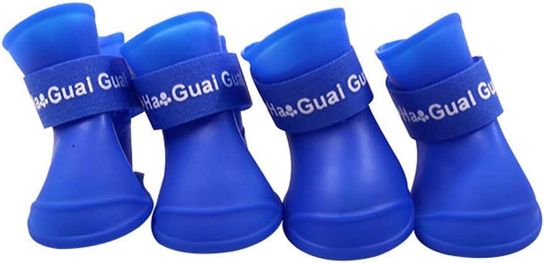 Ducomi Zampette - Zapatillas Impermeables para Perros - Cómodas y Fáciles de Poner - Protegen Las Patas de tu Mascota - Reducen el Riesgo de Infecciones en Caso de Heridas (S, Azul)
