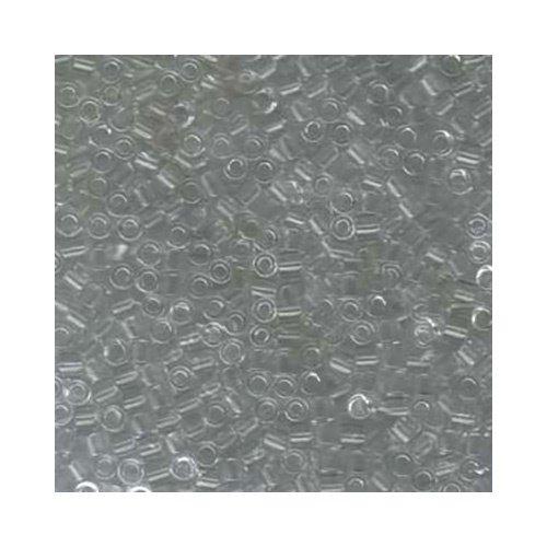 - 8/0 Miyuki Delica Beads Transparent Crystal DBL141 6.8grams