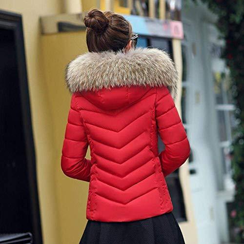 Grande Espesar Piel Imitación Moda Corto Manga De Fit Mujer Invierno Caliente Mode Larga De Capucha Talla Pluma Chaqueta De Rot Marca De Temporada Slim Elegantes Plumas Abrigos 8TnUvxwqZZ