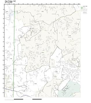 Oak Ridge Nc Map.Amazon Com Zip Code Wall Map Of Oak Ridge Nc Zip Code Map