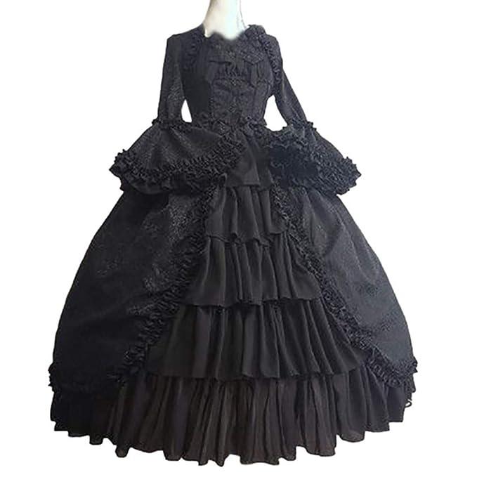 Amazon.com: F_Gotal - Vestido de baile rococó para mujer ...