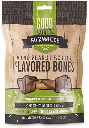Good Lovin No Rawhide Peanut Butter Flavored Dog Bones