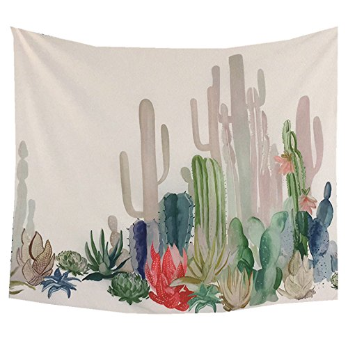 YAMUDA Unique Plant Printed Landscape Dorm Vivid Tapestry Wall Hanging, Apartment Decor Collection, Bedroom Living Room Dorm Tapestries, Tapestry Cactus Wall Art (Cactus)