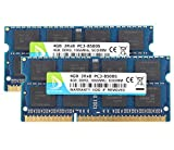 DUOMEIQI New 8GB Kit(2X 4GB) DDR3 2RX8 PC3-8500S 1066MHz 204pin 1.5v SO-DIMM Notebook Laptop Memory RAM Modules with