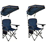 Quik Shade MAX Shade Camp Chair - Navy (Pack of 2)