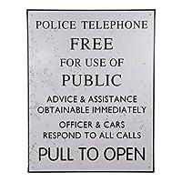 Doctor Who Tardis Police Box Tin Sign