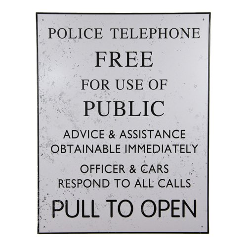 (Doctor Who Tardis Police Box Tin Sign)