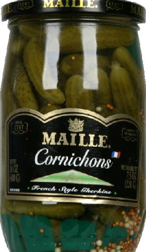 Maille French Style Extra Fine Cornichons, 14 Ounce (Pack of 12)