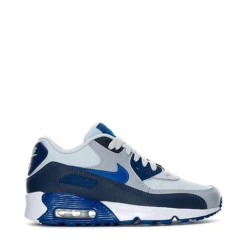 separation shoes c7a82 847f0 Nike Youth Air MAX 90 LTR GS Cuero Blue Nebula Entrenadores 35.5 EU   Amazon.es  Zapatos y complementos