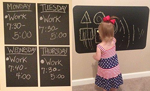(Personal Chalkboard Sheets with 1 Chalk Marker - 4 Heavy Duty 7.9 mil (8.5
