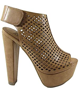 Speed Limit 98 MVE Shoes Thick Heel Rotary Comfortable platform, Open Toe. , mve shoes rotary tan size 6