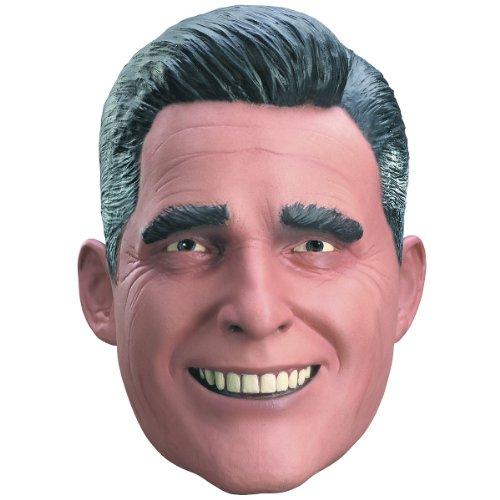 Disguise Mitt Romney Vinyl Mask, Tan/Black/White, Adult (Mitt Vinyl)