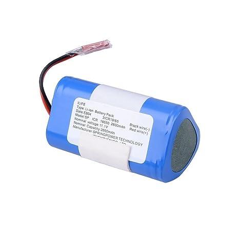 ILIFE Paquete de baterías Li-ion V3s Pro V5s Pro Aspirador Robótico, 2600mah