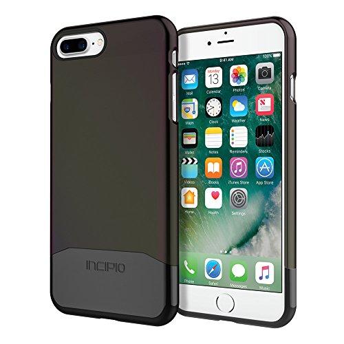 iPhone 7 Plus Case, Incipio EDGE Chrome [Shock Absorbing] Slider Cover fits Apple iPhone 7 Plus - Iridescent Black Oil Slick/Black - Edge Slider