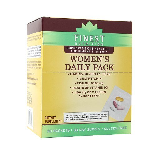 Amazon.com: Finest Nutrition Womens Daily Pack 30 ea (2000IU D3): Health & Personal Care