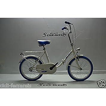 Bicicleta plegable Graziella 20 de acero - bicicleta de paseo monotubo - Blanca Azul Gris Negro