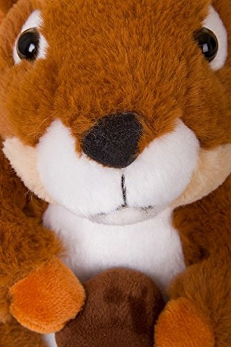 Unisex Tierhausschuhe aus Plüsch - Kinder & Erwachsene Sally Squirrel