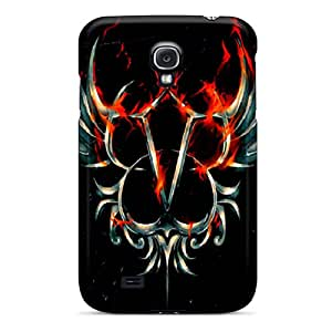 Galaxy S4 Black Veil Brides Print High Quality Tpu Gel Frame Case Cover
