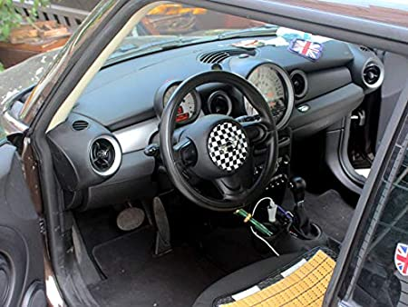 HDX Colore Nero ABS Adesivo Trim cap per Mini Cooper One S JCW R56 Hatchback R57 Covertible R58 Coupe R59 Roadster 2010 2016