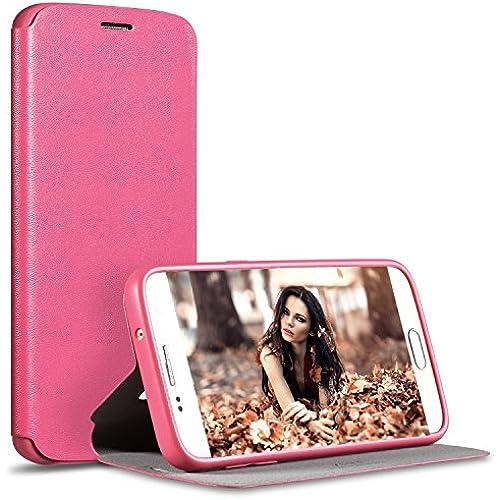 Galaxy S7 Case,Luxury Fashion Flip Phone Case for Samsung Galaxy S7 (RoseRed) Sales