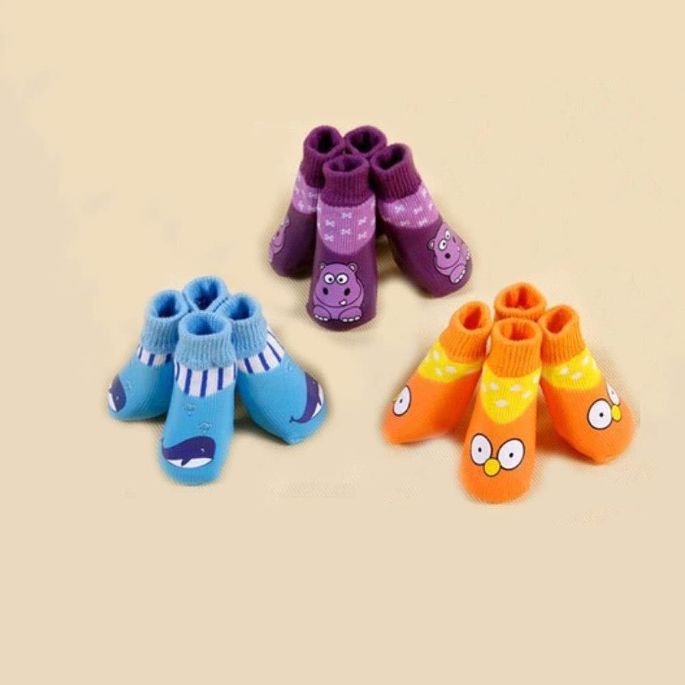 6 Totots Non-slip Dog Socks Small Medium-sized Dog Rain Boots Rain Socks Outdoor Waterproof shoes Dog Socks Dog shoes Covers 12 Per Box (Size   6)