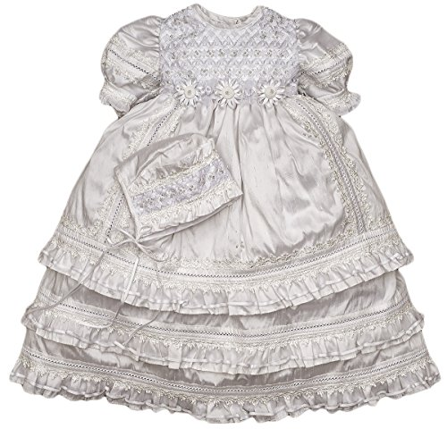 Heirloom Christening Baptism Gown for Girls – HandMade Dress Model G004 (24-36 Months, White)