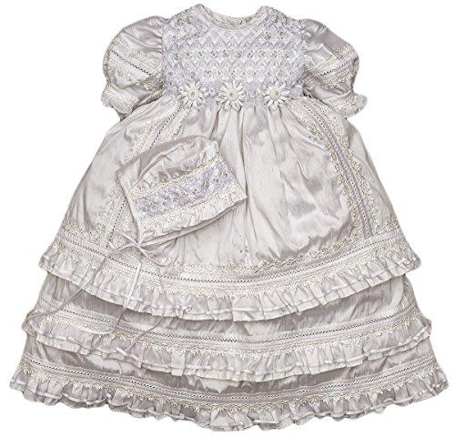 Heirloom Christening Baptism Gown for Girls – HandMade Dress Model G004 (24-36 Months, White)