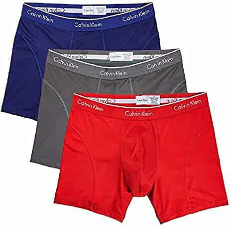 Calvin Klein Boxer Brief Extreme Comfort Breathable Mesh New Style (3 Pack) (Medium, Navy-Grey-Red)