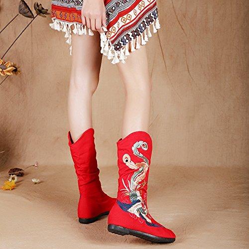 KPHY-Alte Peking Schuhe Stiefel Flache Flache Flache Schuhe Baumwolle Im Herbst Und Winter Retro Folk Freizeit Schuhe Schuhe 39 Des - 0839be