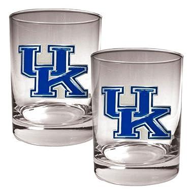NCAA Kentucky Wildcats Two Piece Rocks Glass Set