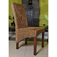 International Caravan SG-3305-1CH-IC Furniture Piece Lambada Hyacinth Spiral Design Chair