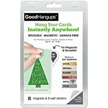 GoodHangups for Holiday Cards - Damage-Free Magnetic Card, Poster & Picture Hangers (As Seen On Shark Tank) (40 Pack)