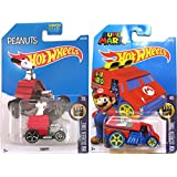 Hot Wheels Super Mario Cool One HW Screen Time & Snoopy Dog House #59 Peanuts Tooned car set by Snoopy