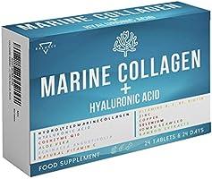 COLLAGENE MARINO CON ACIDO IALURONICO   Collagene Idrolizzato per Pelle Articolazioni e Ossa   15 Ingredienti Attivi tra...