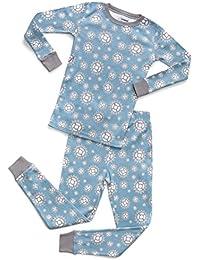 Organic Boys Girls 2 Piece Pajama Set Top & Pants PJ's 100% GOTS Certified Organic Cotton (Toddler-14 Years)