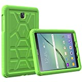 Poetic Cases TurtleSkin Heavy Duty Protection Silicone Case with Sound-Amplification Feature for Samsung Galaxy Tab S2 8.0 Green
