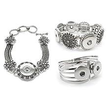 Stoyuan Snap Button Bracelet 3 Piece/Lot 3Styles Ginger Snap Jewelry