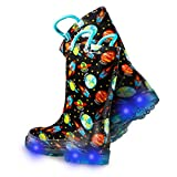 ZOOGS Light Up Kids Toddler Rain Boots for Girls