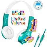 Mimoday Kids Headphones Kindle Fire Kids Edition Tablet Volume Limiting Microphone Over Ear Headphones Boys Girls(Green)